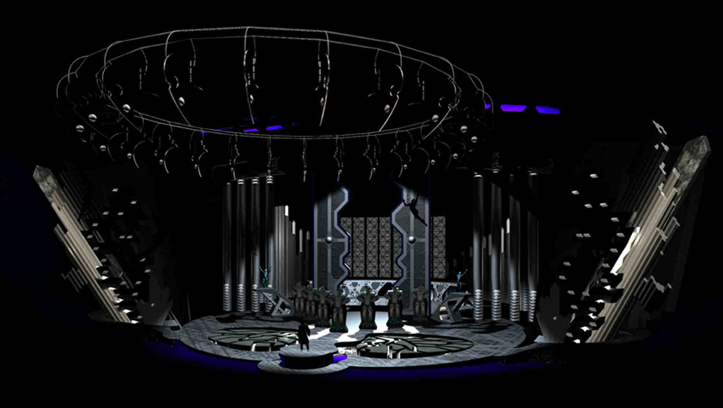 photo gallery fly defy gravity stage design